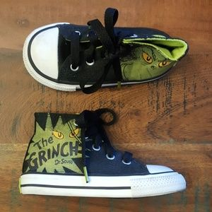 Grinch Dr Seuss Glow in the dark Converse sneakers